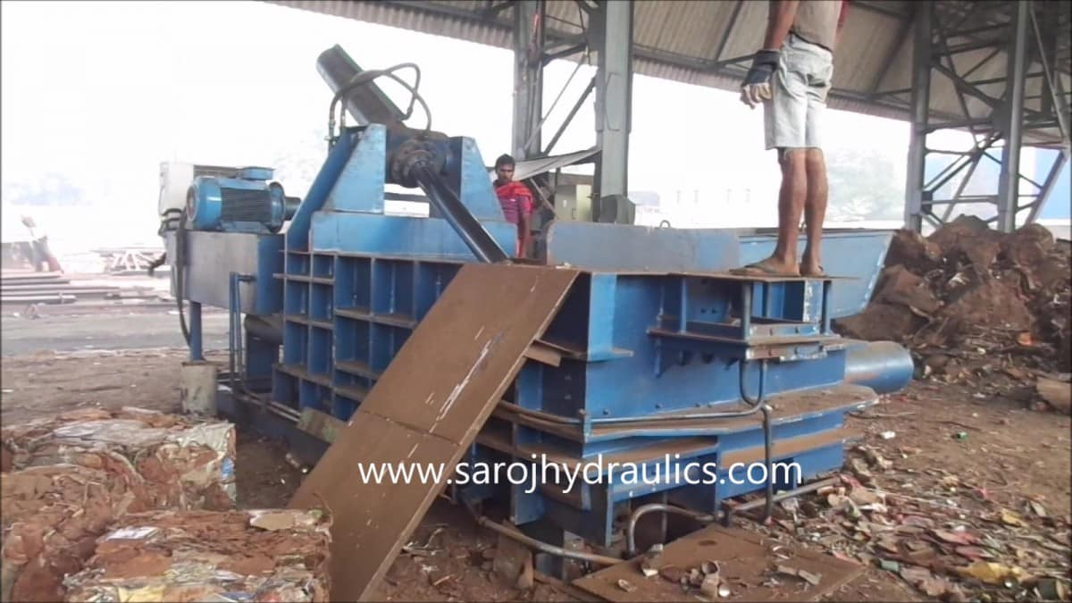 metal baler press machine