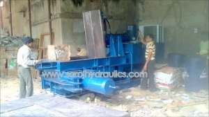 triple action hydraulic bale press machine