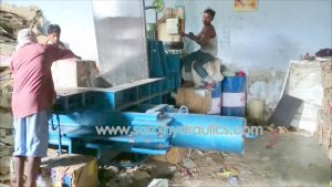 hydraulic paper baler press machine