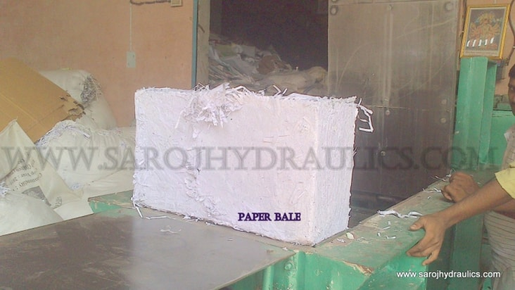 hydraulic paper bale press machine