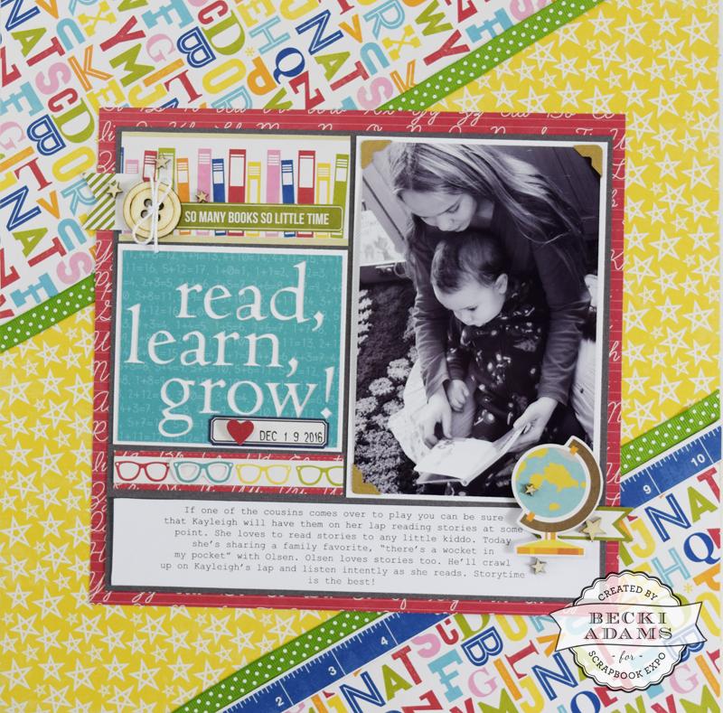 Scrapbooking Process Video {Read, Learn, Grow} - Stamp  Scrapbook EXPO