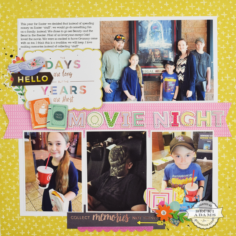 Four Photo Layout with Video Tutorial - Stamp  Scrapbook EXPO