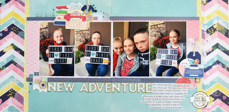 Double Page Multi Photo Layout with Video Tutorial - Stamp
