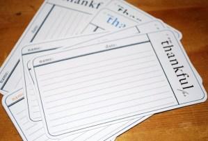 i am thankful cards