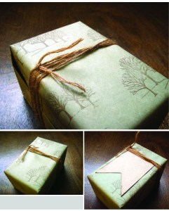 stamped giftwrap