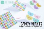Freebie | Printable Conversation Hearts Papers and Cards for Valentine's Day