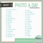January Photo-A-Day Prompts from Pixels & Co.