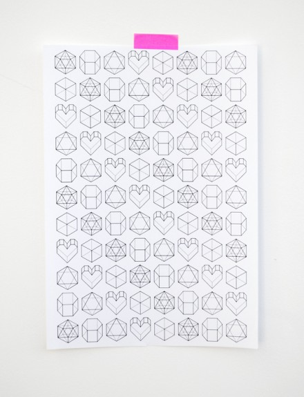 geometric valentine wrap from minieco