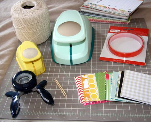 Circle Punch Tutorial at Scrapbook & cards Today