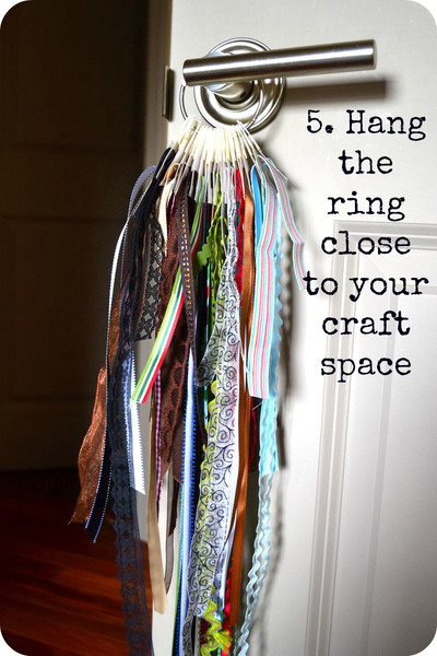 ribbon hanger tutorial from An Ounce of Creativity