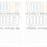 Project Life quiet day freebie from One Velvet Morning
