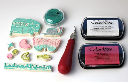 Tutorial - Hand Carved Stamps from Vitamini handmade