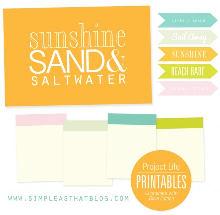 free project_life_printables from Simple as That