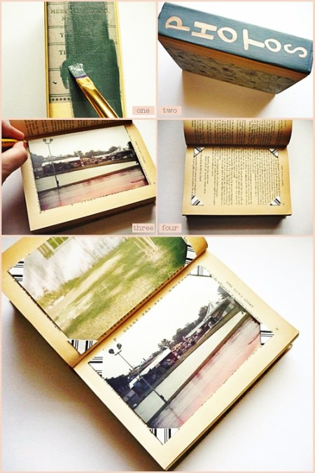 Tutorial | Make a Photo Album from an Old Book – Mother's Day Gift ...: scrapbooking.craftgossip.com/tutorial-make-a-photo-album-from-an...
