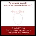 Freebie | Balloon Cut File for Silhouette Machines