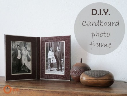 DIY Cardboard frame for Father's Day from Oh Oh Blog