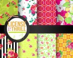Freebie | Set of 8 Printable Patterned Papers