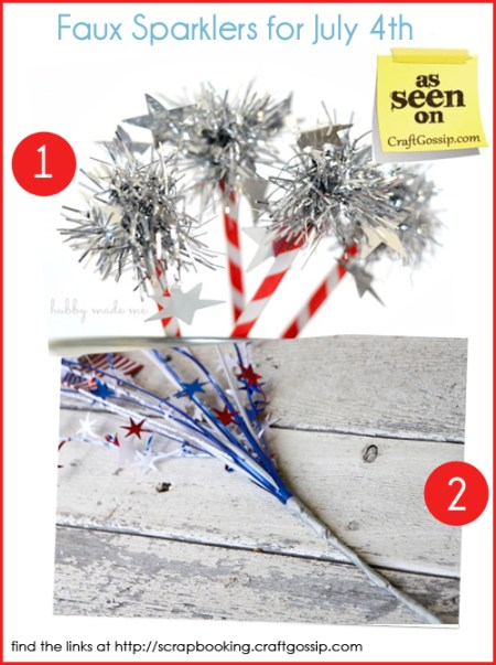 Kid friendly faux sparklers for July 4th copy