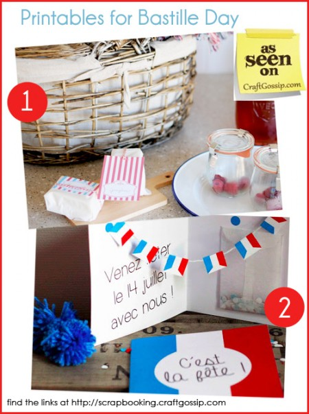 Two free Printables for Bastille Day - Fete Nationale at Craft Gossip