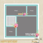 Freebie | Digital Scrapbooking Template from Bee Tree Studios