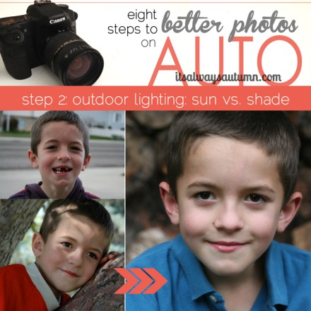 Tutorial - better photos on auto outdoor light at it's always autumn