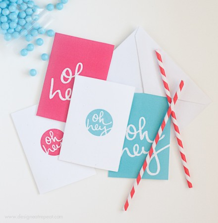 Freebie - Printable Note Cards by Design Eat Repeat