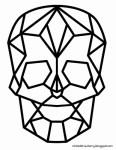 Freebie | Geometric Skull Image