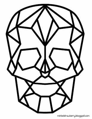 Freebie - Geometric Skull from Minted Strawberry