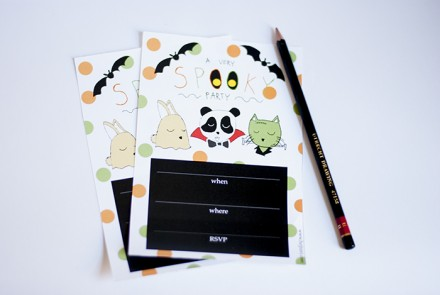 Freebie - Printable Halloween Party Invites