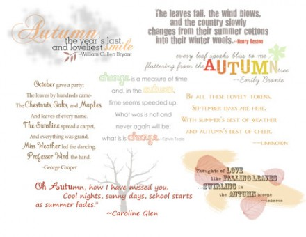 Freebie | Autumn Quotes and Word Art for Your Scrapbook Pages