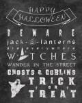 Freebie | Halloween Chalkboard Grunge Poster