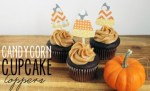 Tutorial | Candy Corn Cupcake Toppers