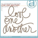 Freebie | Love One Another Word Art