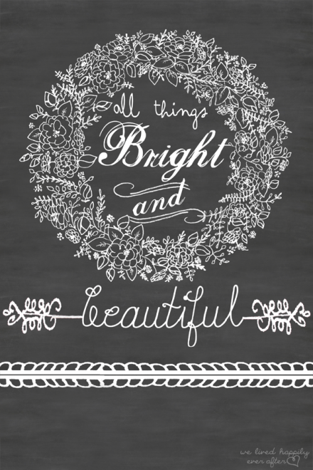 Freebie - All Things Bright and Beautiful Fall Printable