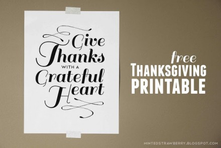 Freebie - Give Thanks With A Grateful heart this Thanksgiving