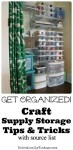 Craft Organization Tips & Tricks & Chalkboard Labels DIY