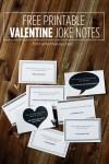 Freebie | Printable Valentine's Joke Notes