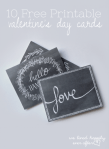 Freebie | 10 Chalkboard Valentine's Day Cards