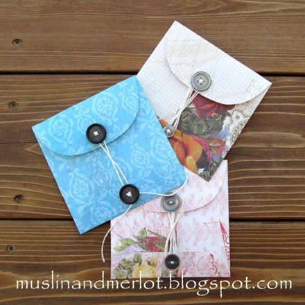Tutorial - Buttoned Up envelopes by Muslin and Merlot