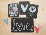 Tutorial | Faux Chalkboard Valentine Art