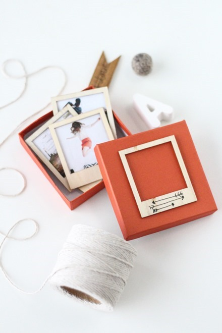 Tutorial - Wooden Polaroid Gift Set