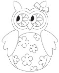 Freebie | Digital Spring Owl Stamp