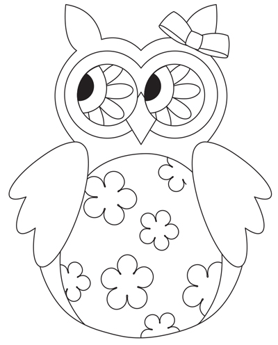 Free Owl Digital stamp from Scrapbook and Cards Today