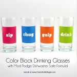 Tutorial & Freebie | Mod Podge Drinking Glasses