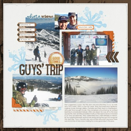 Inspiration du Jour - Guys' Trip by Julie Deguia