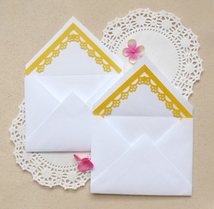 Tutorial - Decorating Envelopes With Border Punches by Maritza