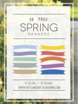 Freebie – Spring Banner Graphics