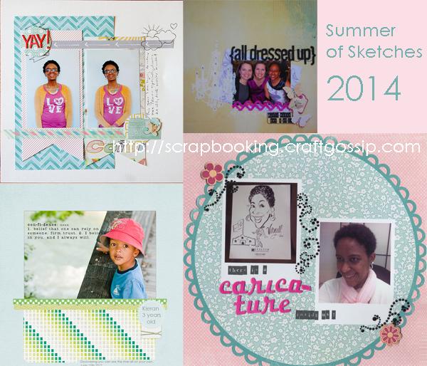 Summer of Sketches at Craft Gossip 2014