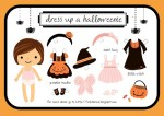 Freebie | Dress Up a Halloweenie | Halloween Paper Dolls