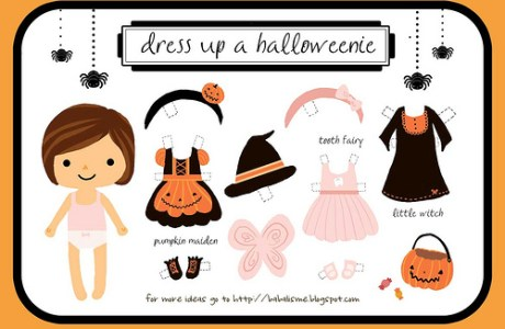 Freebie - Dress up a Halloweenie Girl - Halloween Printable